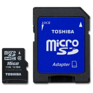 PFM016U 1DAK Toshiba Toshiba 16GB MicroSD Class 4 Memory Card with Adapter