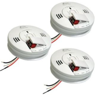 FireX Hardwired 120 Volt Inter Connectable Photoelectric Combination Smoke and CO Alarm with Voice Battery Backup (3 Pack) KN COPE I