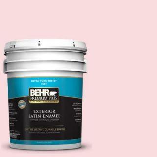 BEHR Premium Plus 5 gal. #160C 1 Floral Linen Satin Enamel Exterior Paint 905005