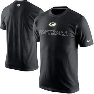 Green Bay Packers Nike Training Day T Shirt   Black