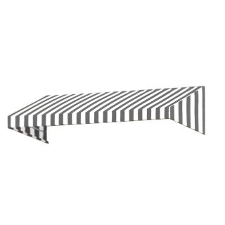 Awntech 40.5 in Wide x 36 in Projection Gray/White Stripe Slope Window/Door Awning
