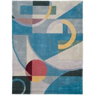 Safavieh Handmade Rodeo Drive Deco Blue/ Multi N.Z. Wool Rug (96 x 13