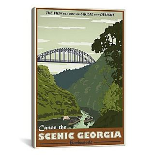 iCanvas Steve Thomas Cahulawasee River Graphic Art on Wrapped Canvas; 61 H x 41 W x 1.5 D