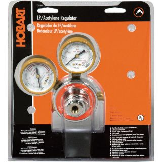 Hobart Oxygen Regulator — Dual PSI/kPa Scales, Model# 770503  Welding   Cutting Hoses   Reels