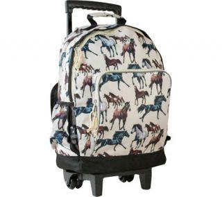 Girls Wildkin High Roller Rolling Backpack