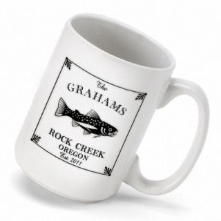 Personalized Gift Cabin Series Trout Coffee Mug by JDS Personalized
