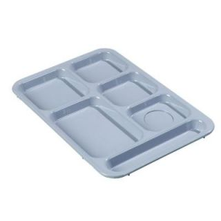 Carlisle 14.37x10 in. ABS Plastic Right Hand 6 Compartment Tray in Slate Blue (Case of 24) 614R59