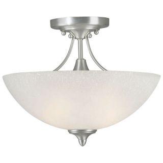Forte Lighting 2378 02 55 13 1 2 W 2 Light Semi Flush Mount in Brushed Nickel