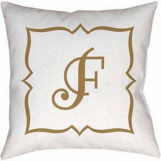 Thumbprintz Gold Script Monogram Decorative Pillows