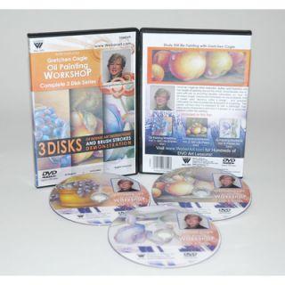 CAGLE DVD 3 DISC SET VOL 1&2, STILL LIFE & VOL 3 FLORAL OIL PAINTING 3