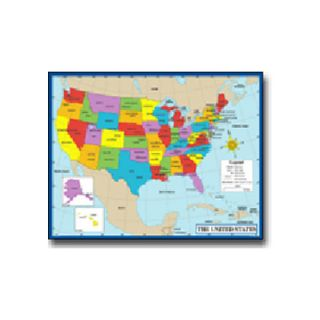 Chartlet Map Of The Us 17 X 22