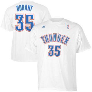 Kevin Durant Oklahoma City Thunder adidas Net Number T Shirt – White
