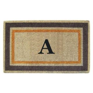 Creative Accents Double Picture Frame Orange Brown 22 in. x 36 in. HeavyDuty Coir Monogrammed A Door Mat 02017A
