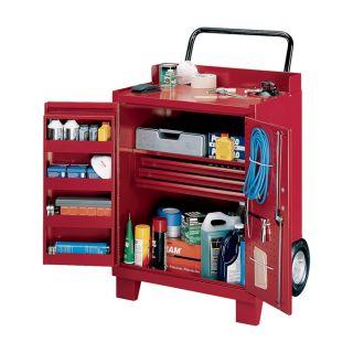 Stack-On 2-Wheel Tilt Cabinet — Steel, Model# ROW-503-DS