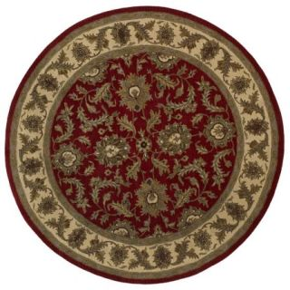 Dalyn Jewel Area Rugs   JW10 Traditional Oriental Red Bordered Floral Leaves Vines Rug