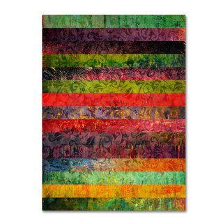 Michelle Calkins Brocade and Fifteen Stripes 1 Canvas Art   17544114