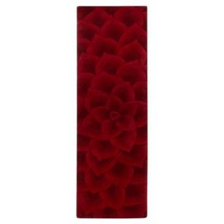 Home Decorators Collection Corolla Red 2 ft. 6 in. x 10 ft. Rug Runner 4172450110