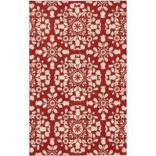 Samarkand Cream/Red Abstract Area Rug by Ecarpet Gallery