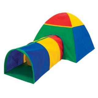 (11111) Play Structure Cabana And Multi Color Tunnel Combo