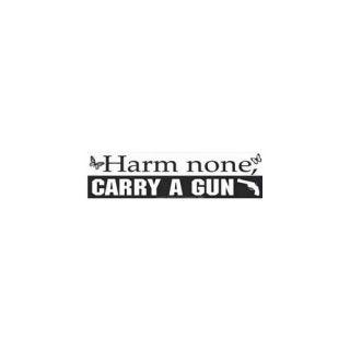 AzureGreen EBHARC Harm None Carry a Gun Bumper Sticker
