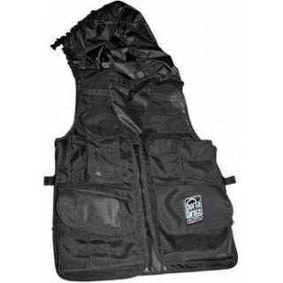 Porta Brace Video Vest with Hood (X Large, Black) VV XLBLH