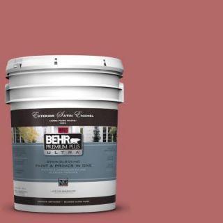 BEHR Premium Plus Ultra 5 gal. #PMD 12 Desert Rose Satin Enamel Exterior Paint 985305