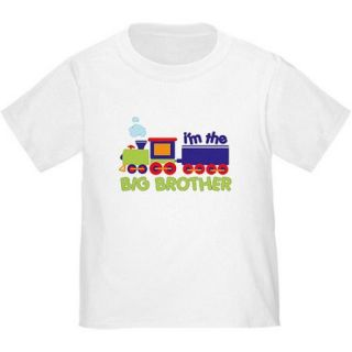 CafePress Baby Toddler Boy Train Big Brother T Shirt