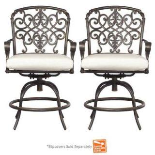 Hampton Bay Edington Swivel Patio Balcony Chair with Cushion Insert (2 Pack) (Slipcovers Sold Separately) 131 012 BSVL NF