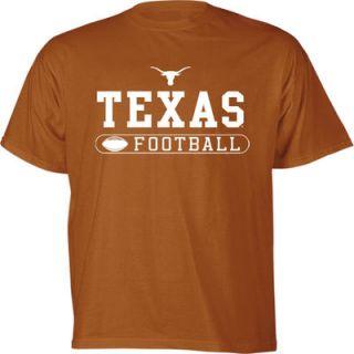 Texas Longhorns Youth Burnt Orange Football T Shirt