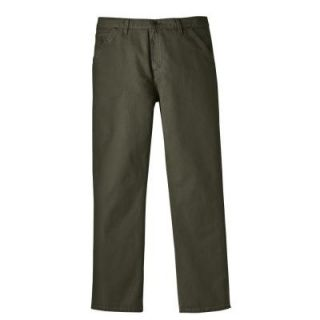 Dickies Relaxed Fit 32 in. x 32 in. Cotton 5 Pocket Jean Moss DISCONTINUED ED257RMS 32 32