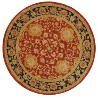 Safavieh Anatolia Red/Navy 6 ft. Round Area Rug AN517A 6R
