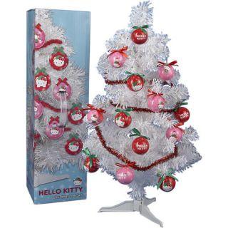 24 inch White Christmas Tree   Hello Kitty    Kurt S Adler