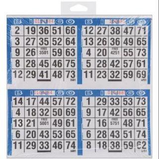 Bingo Game Sheets 125/Pkg