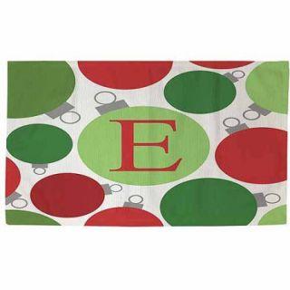 Thumbprintz Christmas Cheer Monogram Rug