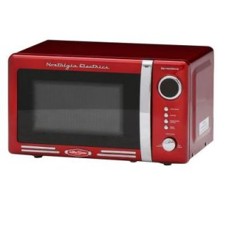 Nostalgia Retro Series 0.7 cu. ft. Countertop Microwave Oven in Red RMO770RED