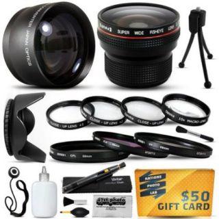 15 Piece Macro Fisheye Telephoto Lens Filters Set for 49MM Sony A850 A3000 RX1 NEX 3 5 7 C3 F3 5N 5R NEX3 NEX5 NEX7 DSC RX1 NEX 3 NEX 5 NEX 7 NEX C3 NEX F3 NEX 5N NEX 5R SLR DSLR Digital Camera