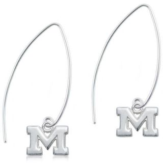 Michigan Wolverines Dayna Designs Womens Sterling Silver Fish Hook Earrings