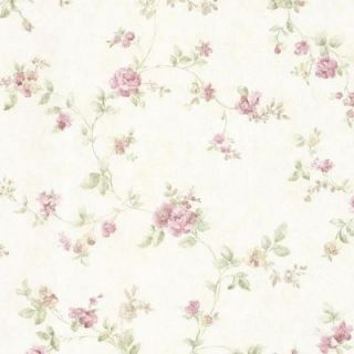 Mirage 56 sq. ft. Mary Mauve Floral Vine Wallpaper 992 68332