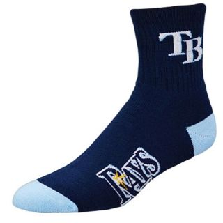 For Bare Feet MLB Logo Quarter Socks   Mens   Accessories   Tampa Bay Rays   Blue