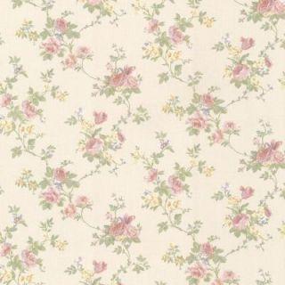 Mirage 56 sq. ft. Princess Salmon Floral Trail Wallpaper 991 68215