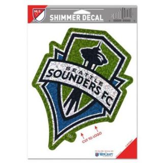 Seattle Sounders FC Official MLS 5 inch x 7 inch Shimmer Car Decal by Wincraft