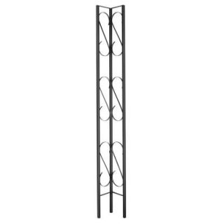 Village Ironsmith Scroll Design 9 in. W x 8 ft. H Black Steel Corner Decorative Column 3S200