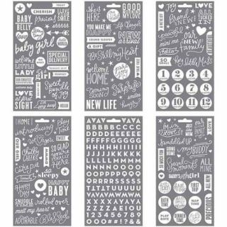 Me and My Big Ideas Pocket Pages Clear Stickers, 6 Sheets per Pack