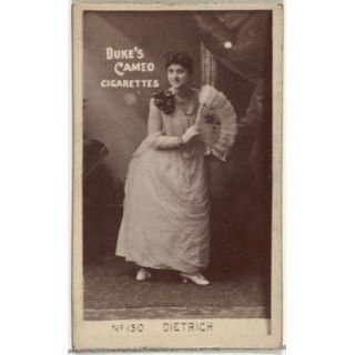 Card Number 130 Dietrich from the Actors and Actresses series (N145 4) issued by Duke Sons & Co. to promote Cameo Cigarettes Poster Print (18 x 24)