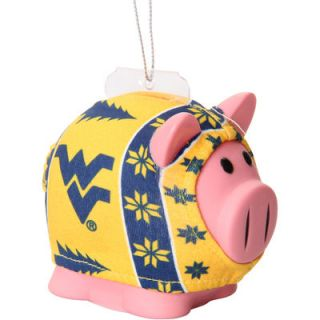 West Virginia Mountaineers Sweater Pig Ornament