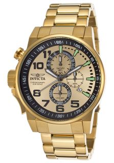 Men's I Force Chronograph 18K Gold Plated SS Gold Tone Dial 18K GP SS