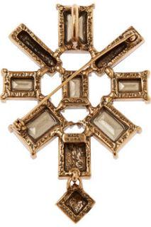 Gold plated crystal necklace  Oscar de la Renta