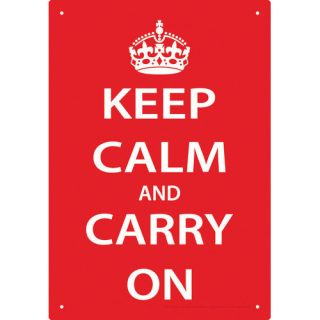 NMR Distribution Keep Calm Tin Sign Textual Art