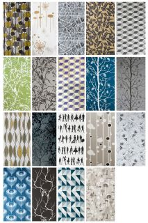 Family Tree Wallpaper   1 panel Silver & dark grey by Ferm Living