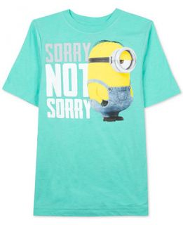 Despicable Me Boys Sorry Not Sorry Minion T Shirt   Kids & Baby